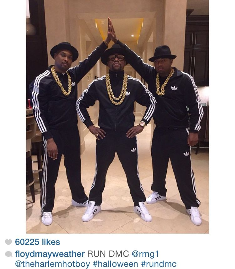 Floyd Mayweather and Friends as Run DMC - Halloween 2014 · Run Dmc  Costume80s ...
