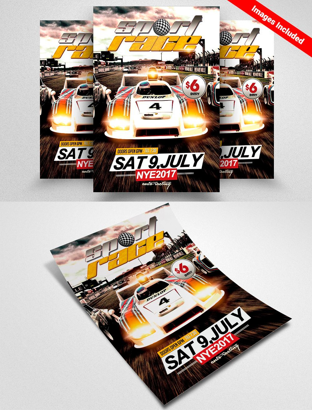 car racing flyer template flyer templates pinterest flyer