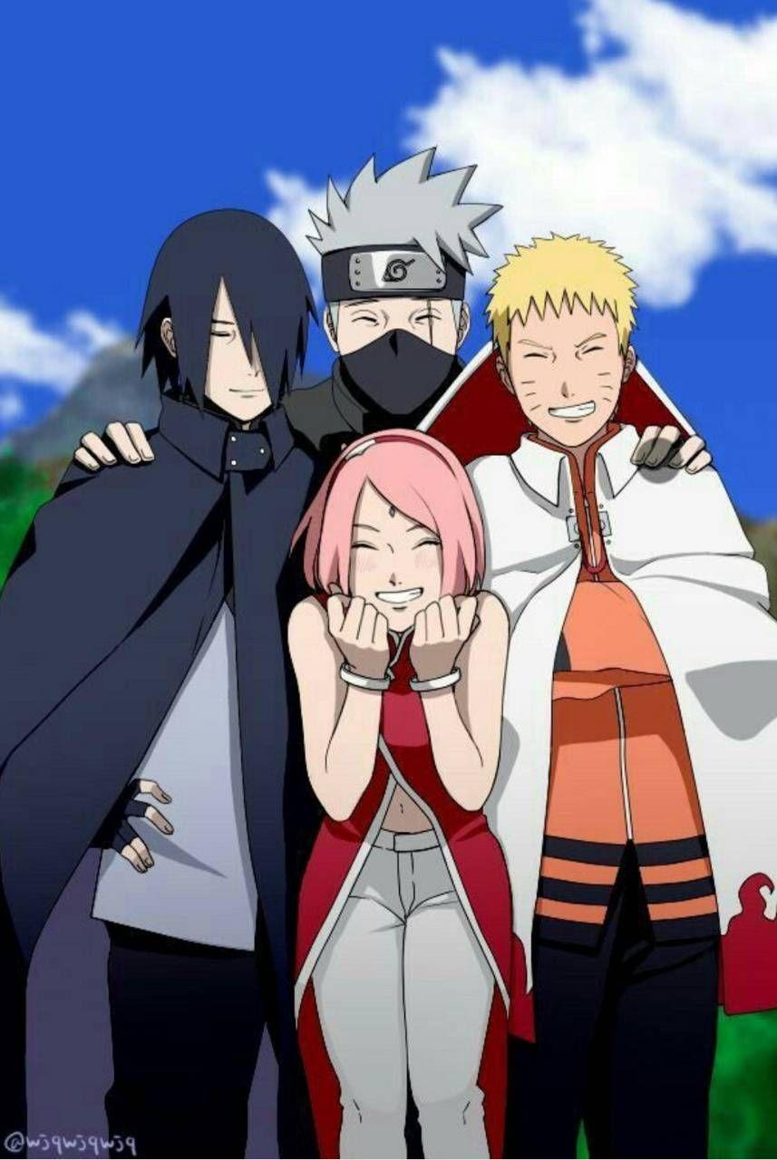 Naruto Team 7 Naruto And Sasuke Naruto Teams Naruto Shippuden Anime