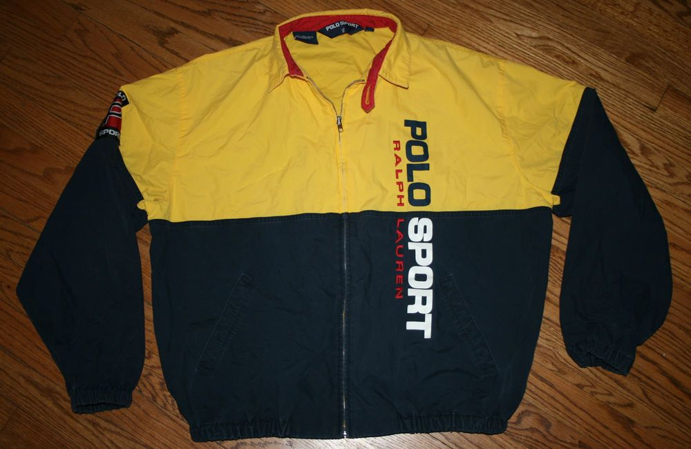 9048f2595 RARE Polo Sport Ralph Lauren Jacket Windbreaker-L-Sailing Red Yellow ...