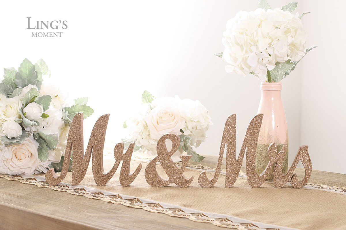Lings moment Wooden Mr #KitchenDIY Head table wedding