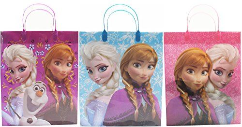 awesome Disney Frozen Party Favor Goodie Big Gift Bags (3 Bags) Check more at http://partythemesforbirthday.com/product/disney-frozen-party-favor-goodie-big-gift-bags-3-bags/