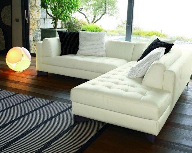 Divani angolari in pelle comfort e design per il tuo salotto divani couch design home - Piccolo divano imbottito ...