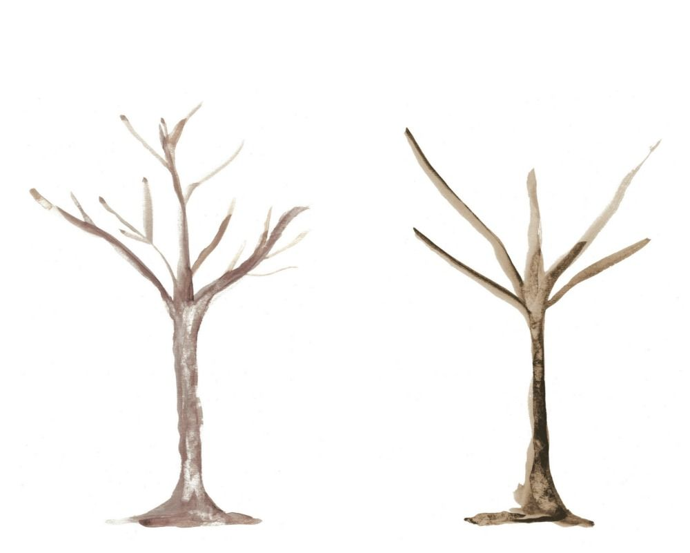 Here Are Two Tree Watercolour Trunk Templates I Had Designed To Do