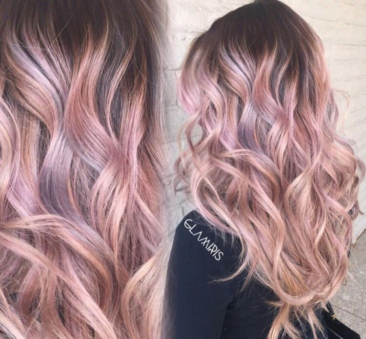 Rose Gold Ombre Hair Pinte