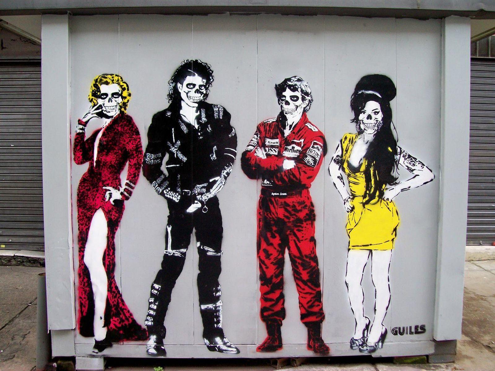 Guiles Art Marilyn Monroe Michael Jackson Ayrton Senna Amy Winehouse