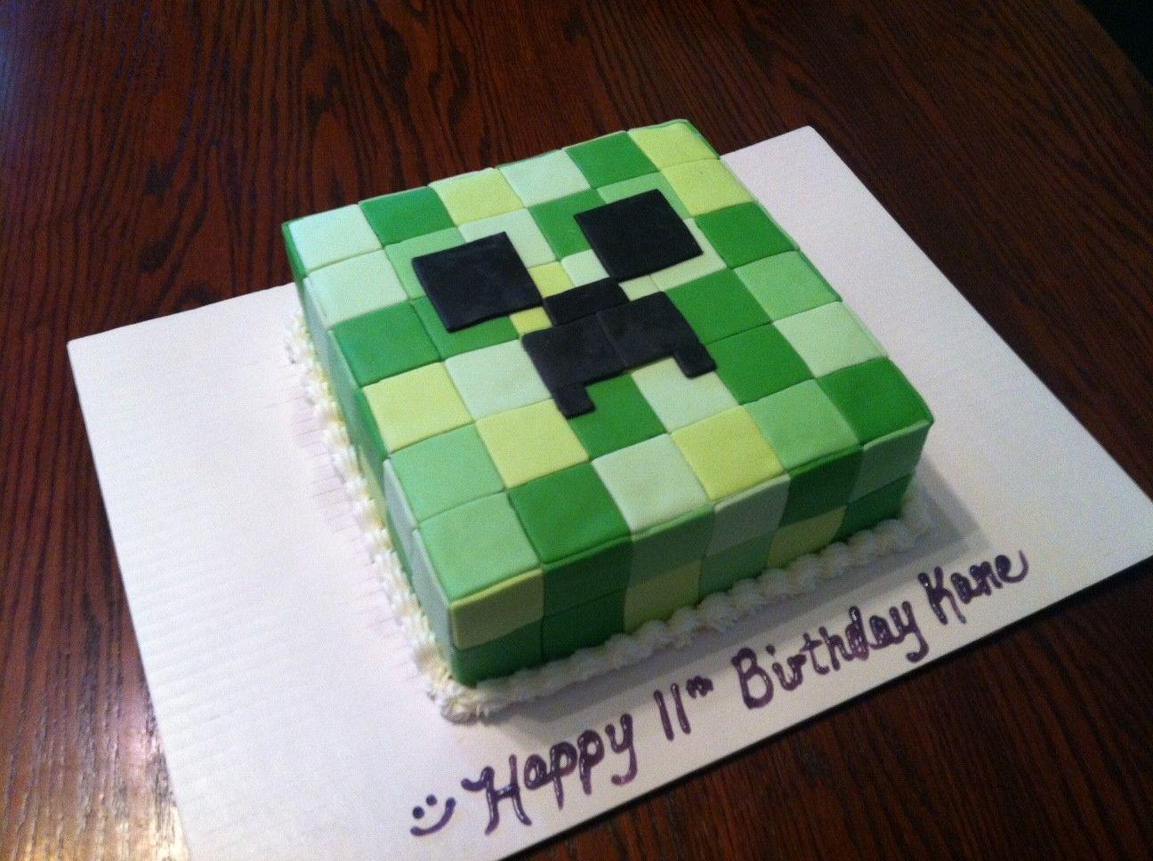 Superb Minecraft Creeper Cake My Boys Next Birthday Cake Minecraft Funny Birthday Cards Online Inifofree Goldxyz