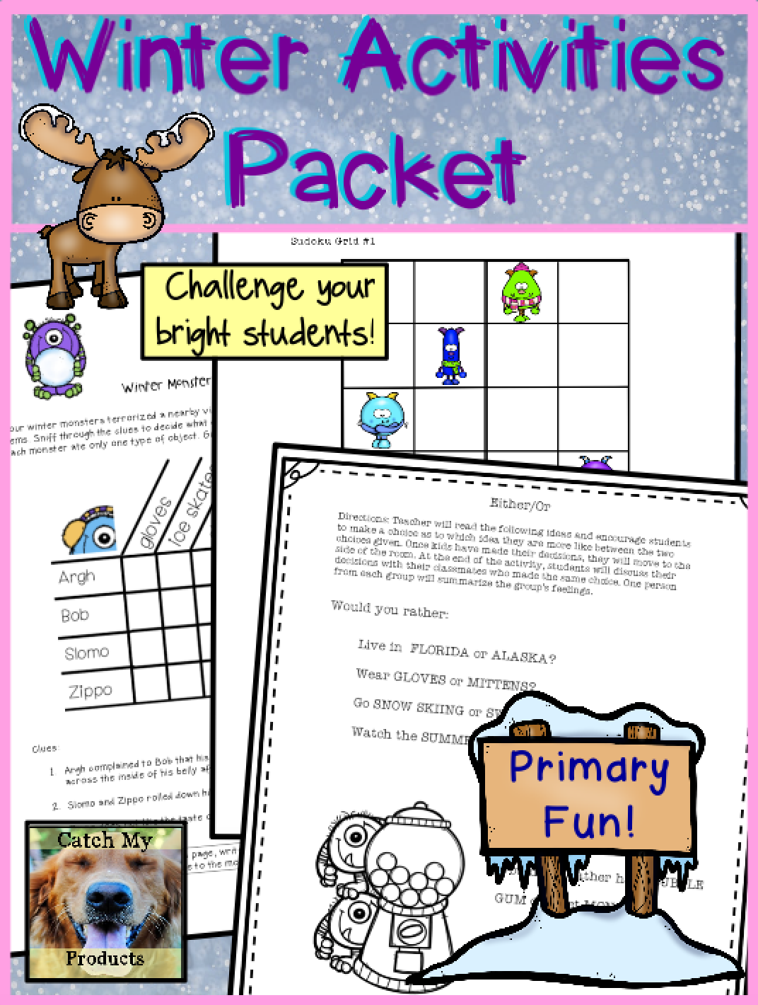 Winter Activities Packet