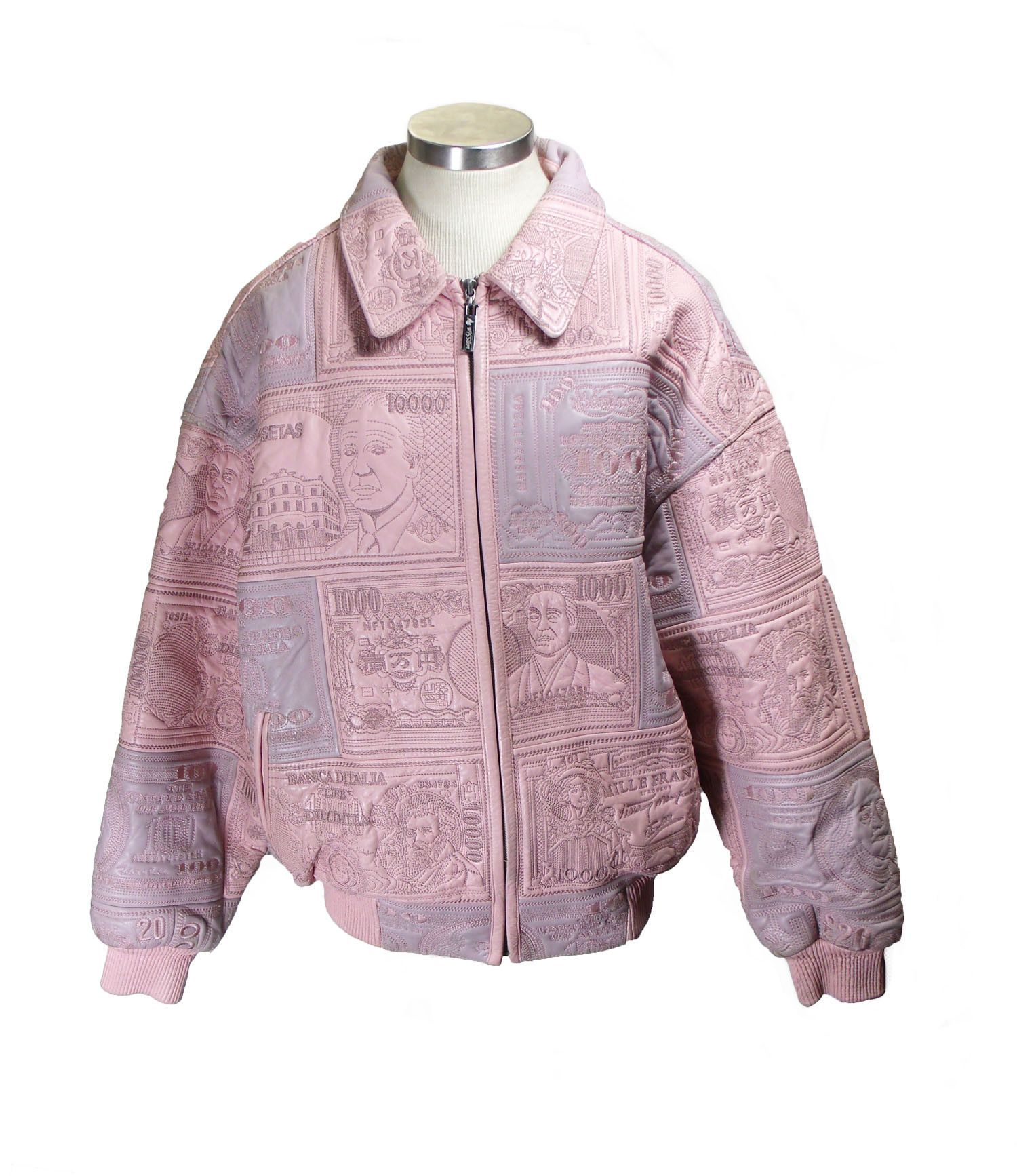 dc0f4bf13 Al Wissam Pink Women's Currency Leather Coat Size XL | Products ...