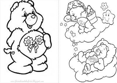 Ursinhos Carinhosos Livrinho Para Colorir Bear Coloring Pages