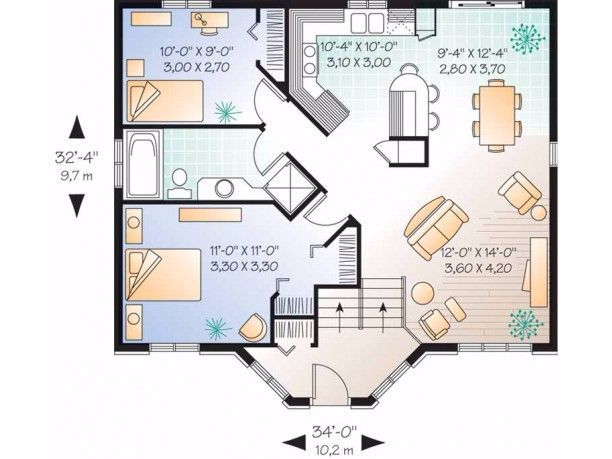 6 Floor Plans For Tiny Homes That Feel Surprisingly Spacious Floor Plans Vacation House Plans Tiny House Plans