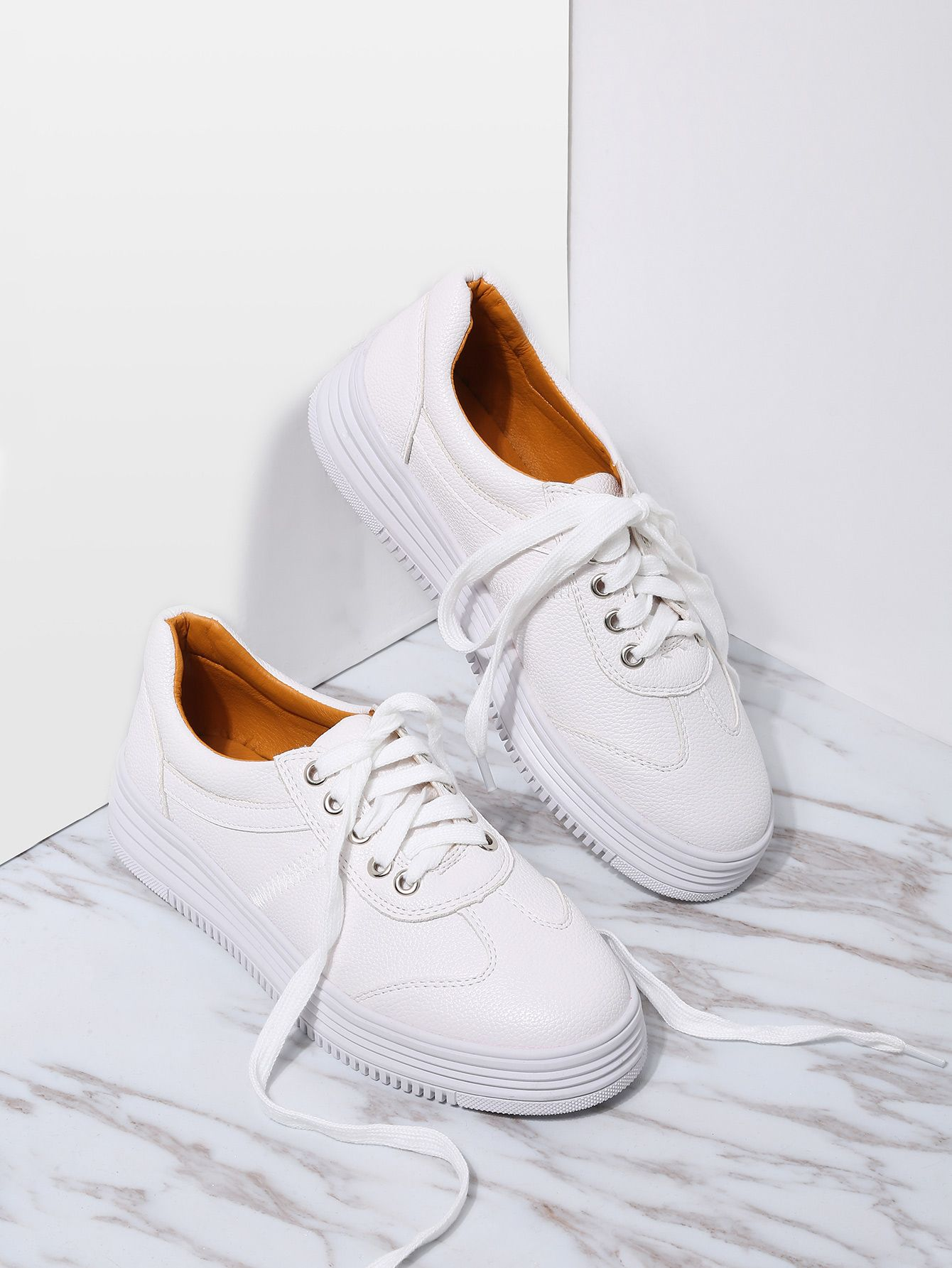 09063d146f Shop White PU Rubber Sole Low Top Sneakers online. SheIn offers White PU  Rubber Sole Low Top Sneakers & more to fit your fashionable needs.