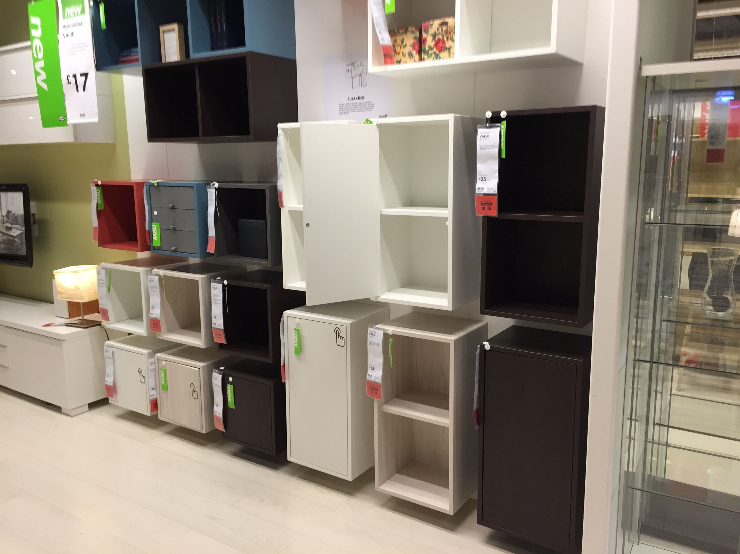 Ikea Valje Wall Units. These are interesting. We could use them as ...