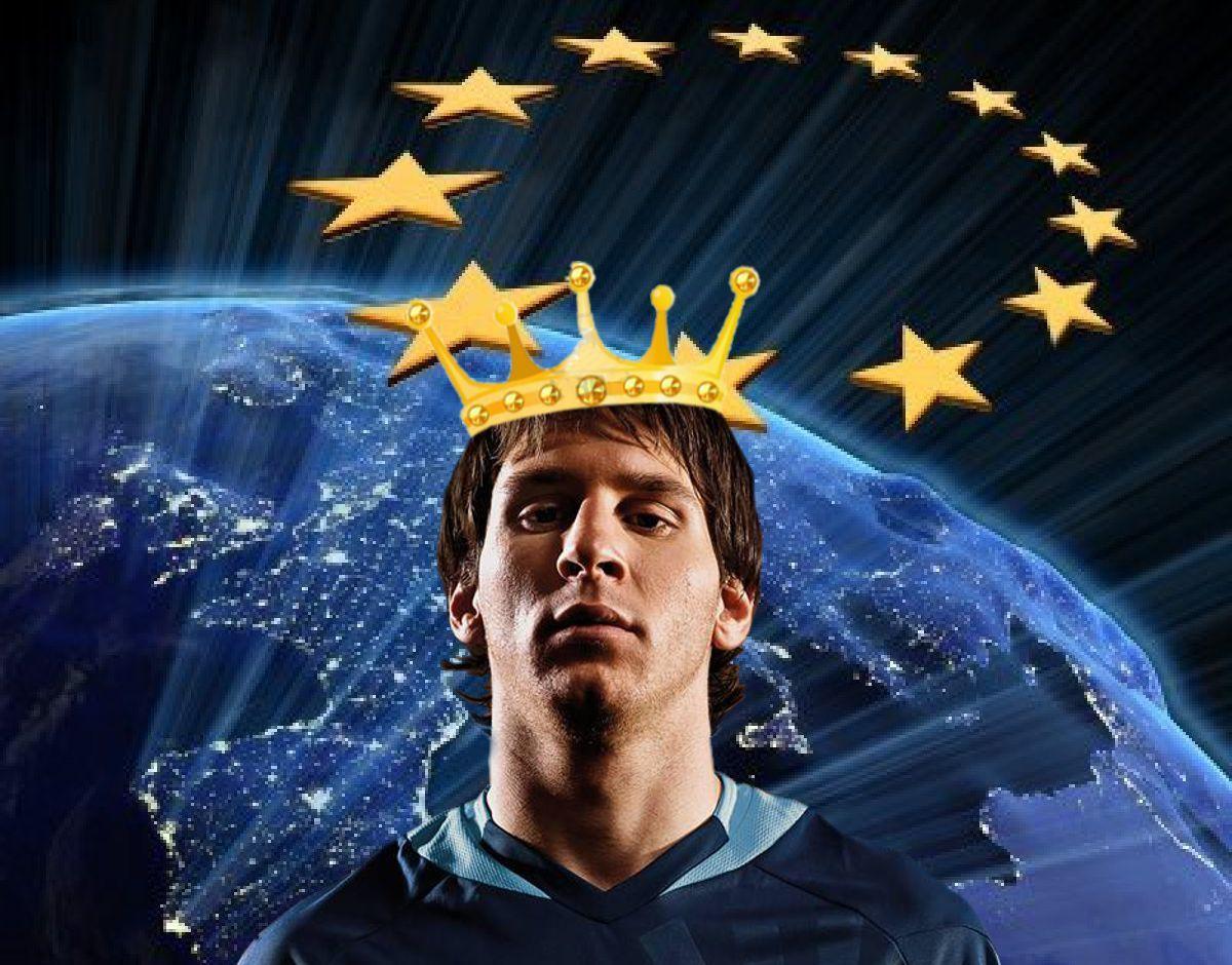REY DE EUROPA.  Por cuarta temporada consecutiva. El argentino Lionel Messi ha sido elegido nuevamente el Rey del fútbol de Europa según la encuesta que año tras año realiza el diario uruguayo El Páis. Leo continúa haciendo historia.  http://www.revistagraderia.co/rey-de-europa/
