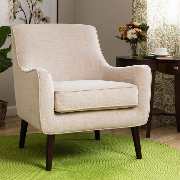 Oxford Cream Colored Modern Accent Chair  Modern Living Rooms Beauteous Overstock Living Room Chairs Design Ideas