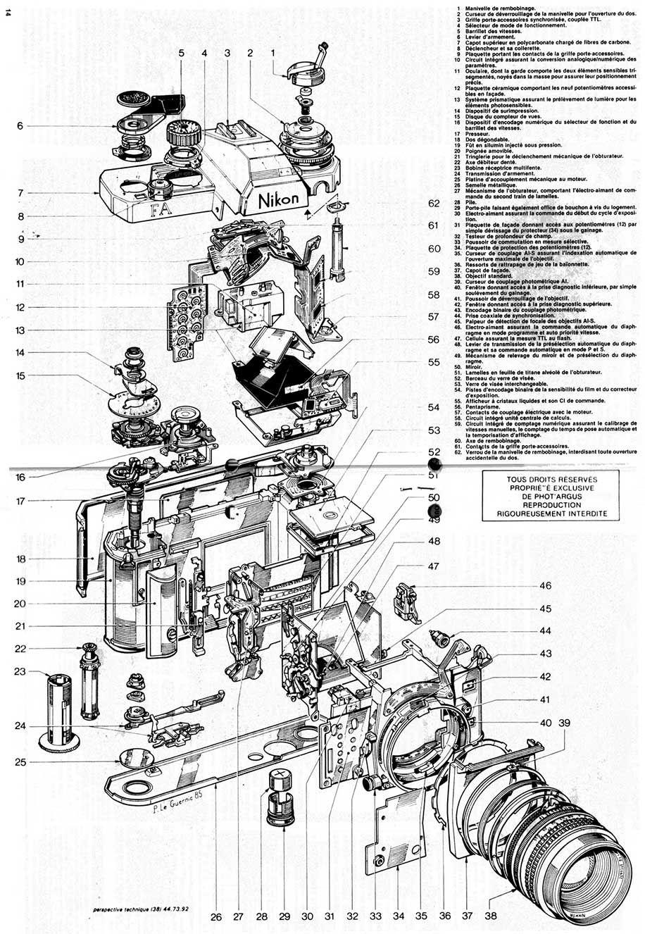 mechanical schematics of those old nikon f film cameras