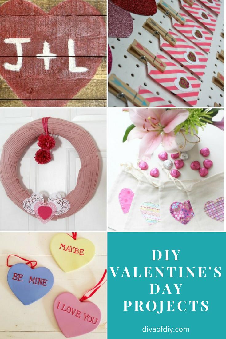 DIY Valentine's Day Projects via @divaofdiy