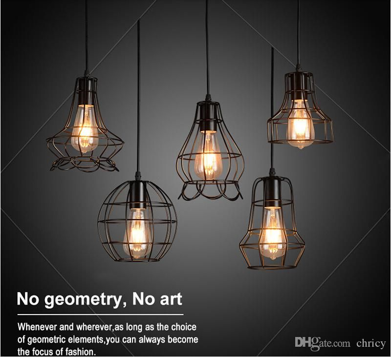 New Arrivals Retro Iron Pendant Light Loft Lamps E27 Birdcage Led Industrial Pendant Lights H Iron Pendant Light Pendant Light Fixtures Track Lighting Pendants