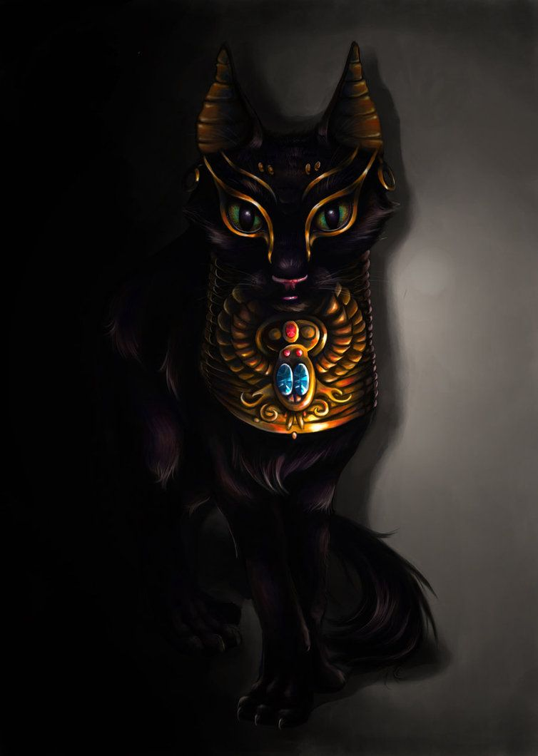 Egyptian Cat Goddess Bastet Done In Photoshop Cs3 Cool Pictures