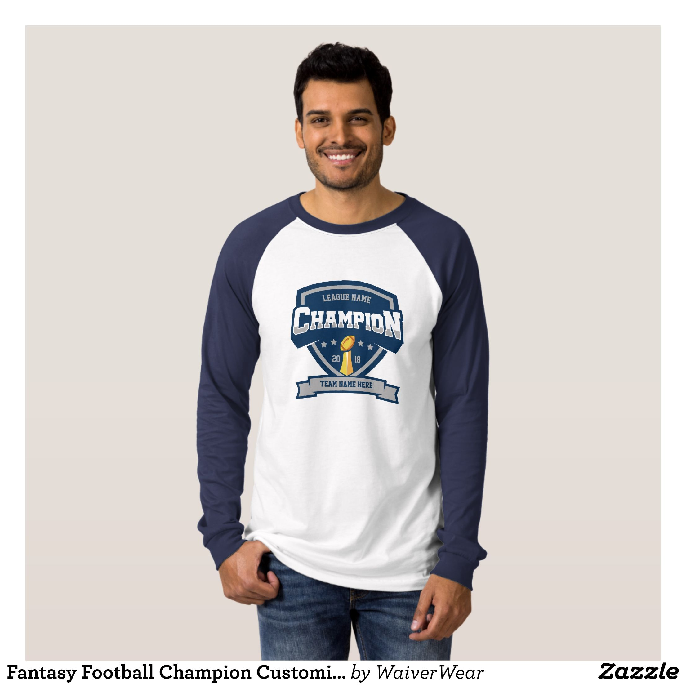 1c0a19453 Fantasy Football Champion Customizable T-Shirt - Heavyweight Pre-Shrunk  Shirts By Talented Fashion   Graphic Designers -  sweatshirts  shirts   mensfashion ...