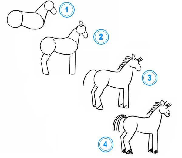 Jak Nakreslit Kone Jak Nakreslit Zvirata Jak Nakreslit Krok Za