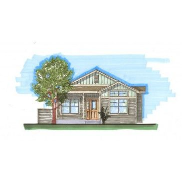 AmazingPlans com House Plan #REN 1320 Craftsman Narrow