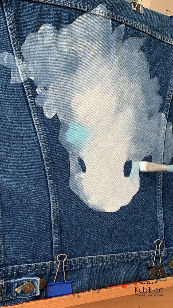 Watercolor Skull art custom ideas. Floral skull print. 100% Hand Painted Jacket (not print). DIY projects clothes.