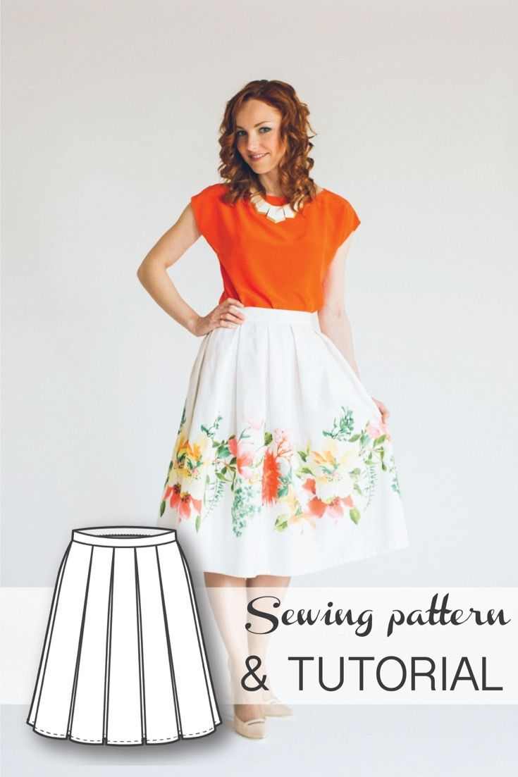 Pleated Skirt - Sewing and Pattern Drafting Tutorial   Couture und Nähen
