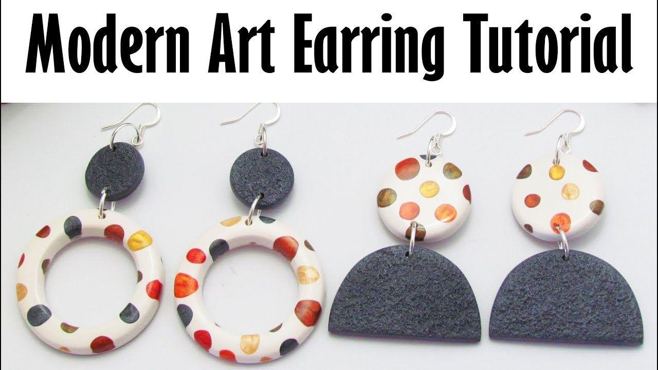 Polymer Clay Project Tutorial Modern Art Earring Tutorial