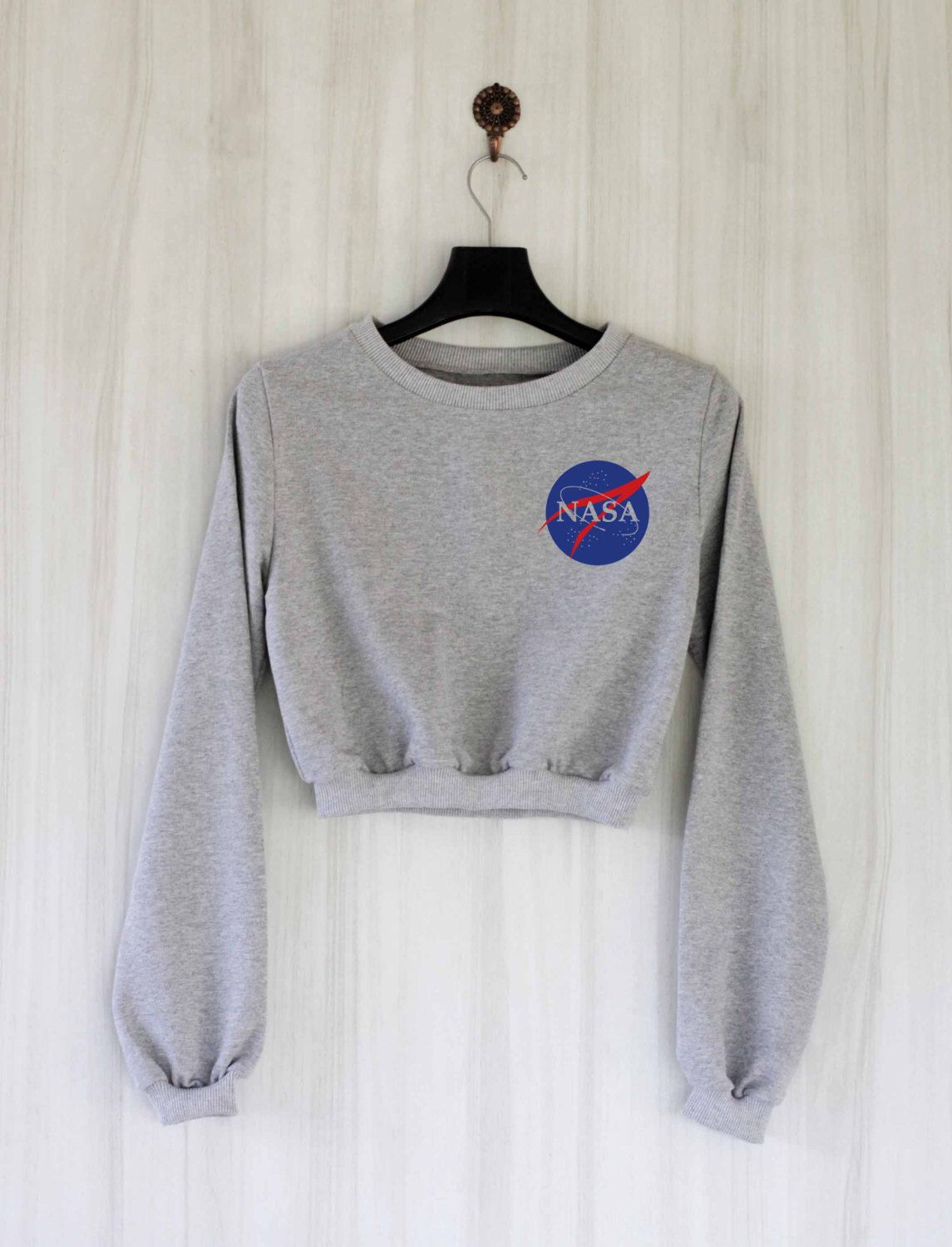 1aa58a525c Nasa Crop Top Sweatshirt Sweater Jumper Pullover Shirt – Size S M L by  SaBuy on Etsy https