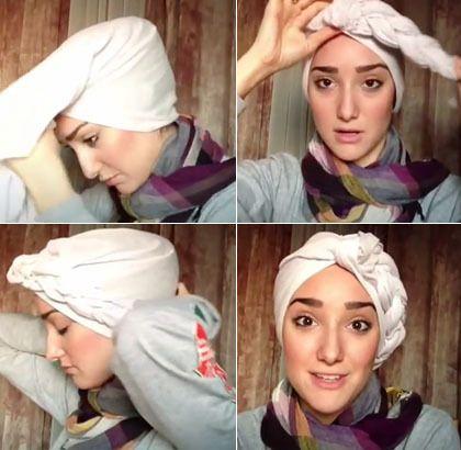 Kreasi Hijab Turban Kepang Tanpa Peniti Hijabina Toko Jilbab Online Indonesia Hijab Turban Fashion