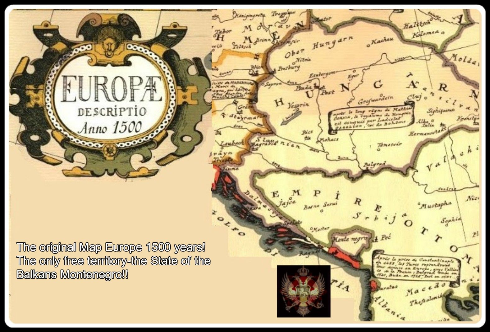 The Original Map Europe 1500 Years The Only Free Territory The