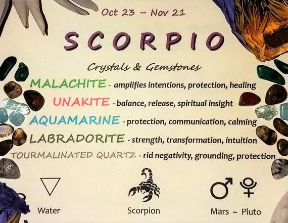 SCORPIO Zodiac Crystal Roller Bottle - Scorpio Gift Astrology Sign Gemstones for Essential Oils Octo