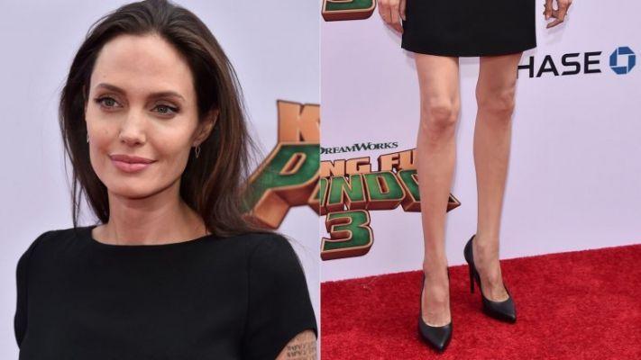 FOTOS: Las raquíticas piernas de Angelina Jolie que encendieron alarmas - http://bit.ly/1KnGt1o