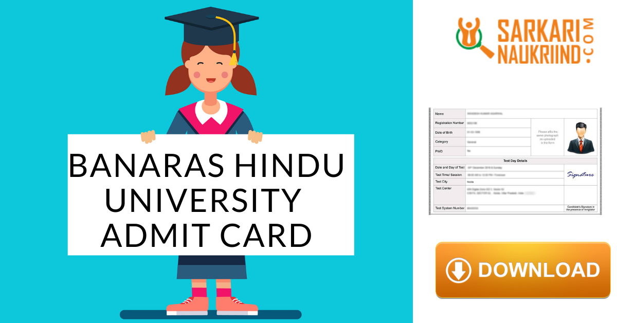 Banaras Hindu University Admit Card 2020 Banaras Hindu University University Cards