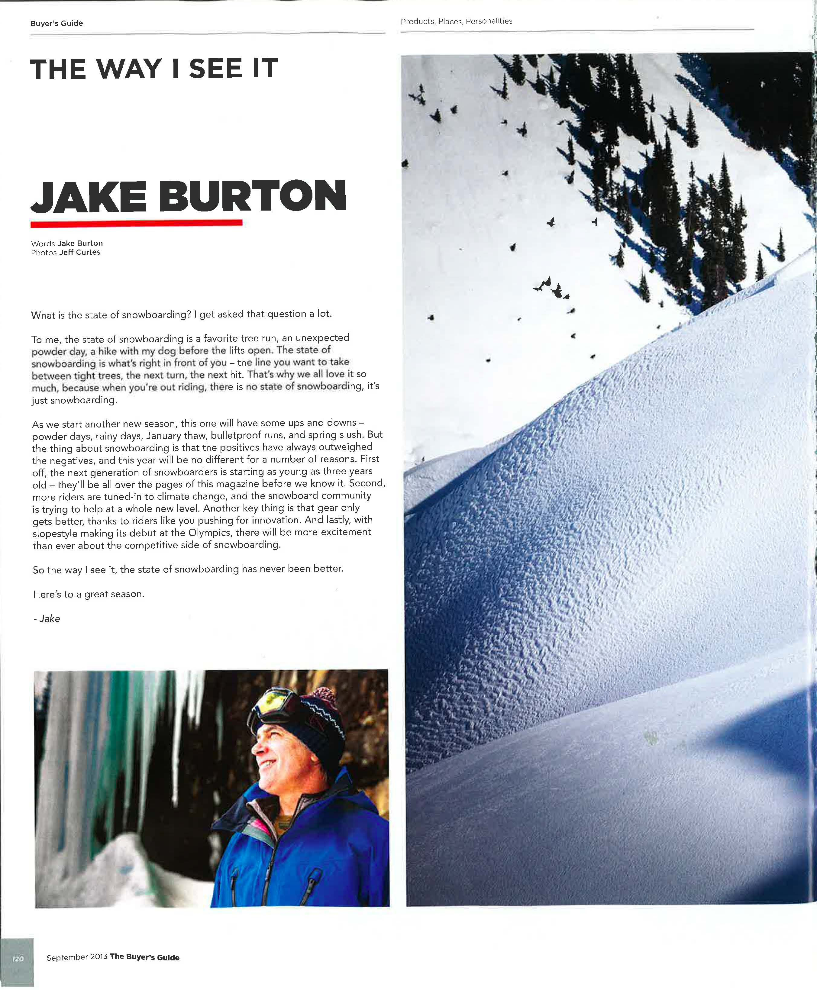 jake burton featured in snowboard magazine the way i see it is a rh pinterest co uk Snowboard Magazine Layout Snowboard Magazine Layout