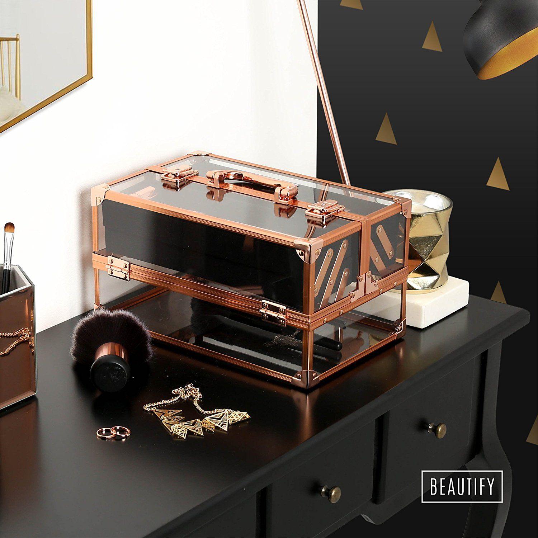 Beautify Professional Large Lockable Acrylic Vanity Makeup
