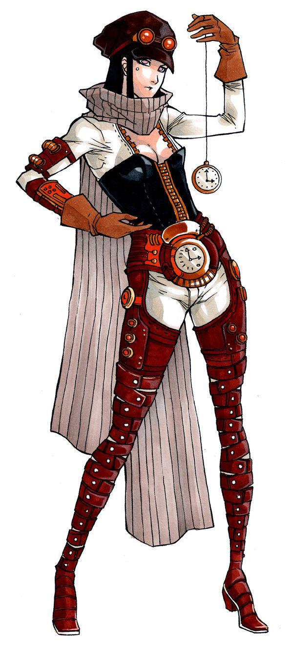 Luana the Time traveler by MizaelTengu Steampunk artwork