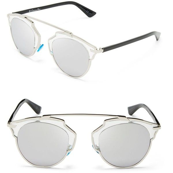 88049970f3a7 Dior So Real Mirrored Sunglasses (7 385 ZAR) ❤ liked on Polyvore featuring  accessories, eyewear, sunglasses, glasses, lunettes, christian dior, ...