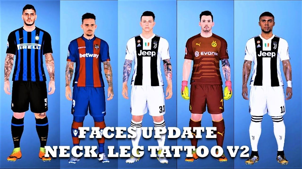 e259592dcfc Tutorial How to Install Faces Update (Neck and Leg Tattoo) V2 | PES 2017
