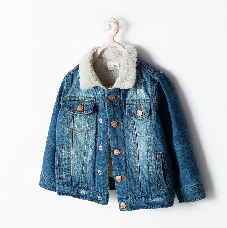 17cd6685 ZARA джинсовая куртка с мехом под барашка. ВНЕШНЯЯ ЧАСТЬ 100% ХЛОПОК  ПОДКЛАДКА 100% ПОЛИЭСТЕР