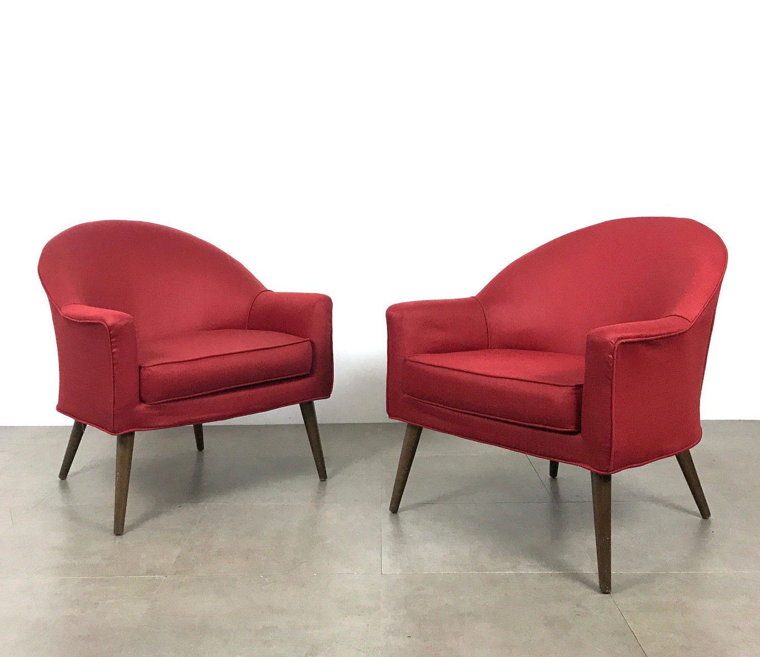 Best Fantastic Pair Of High Back Barrel Lounge Chairs In The 640 x 480