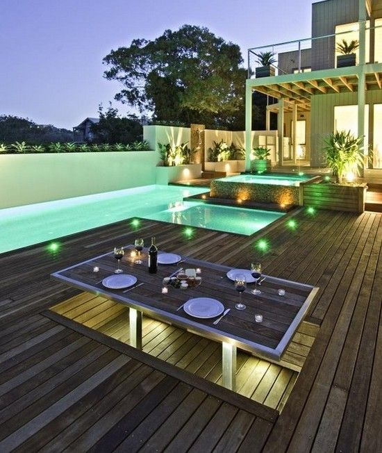 Neue terrasse bauen architektur einrichtung dekoration for Pool dekoration