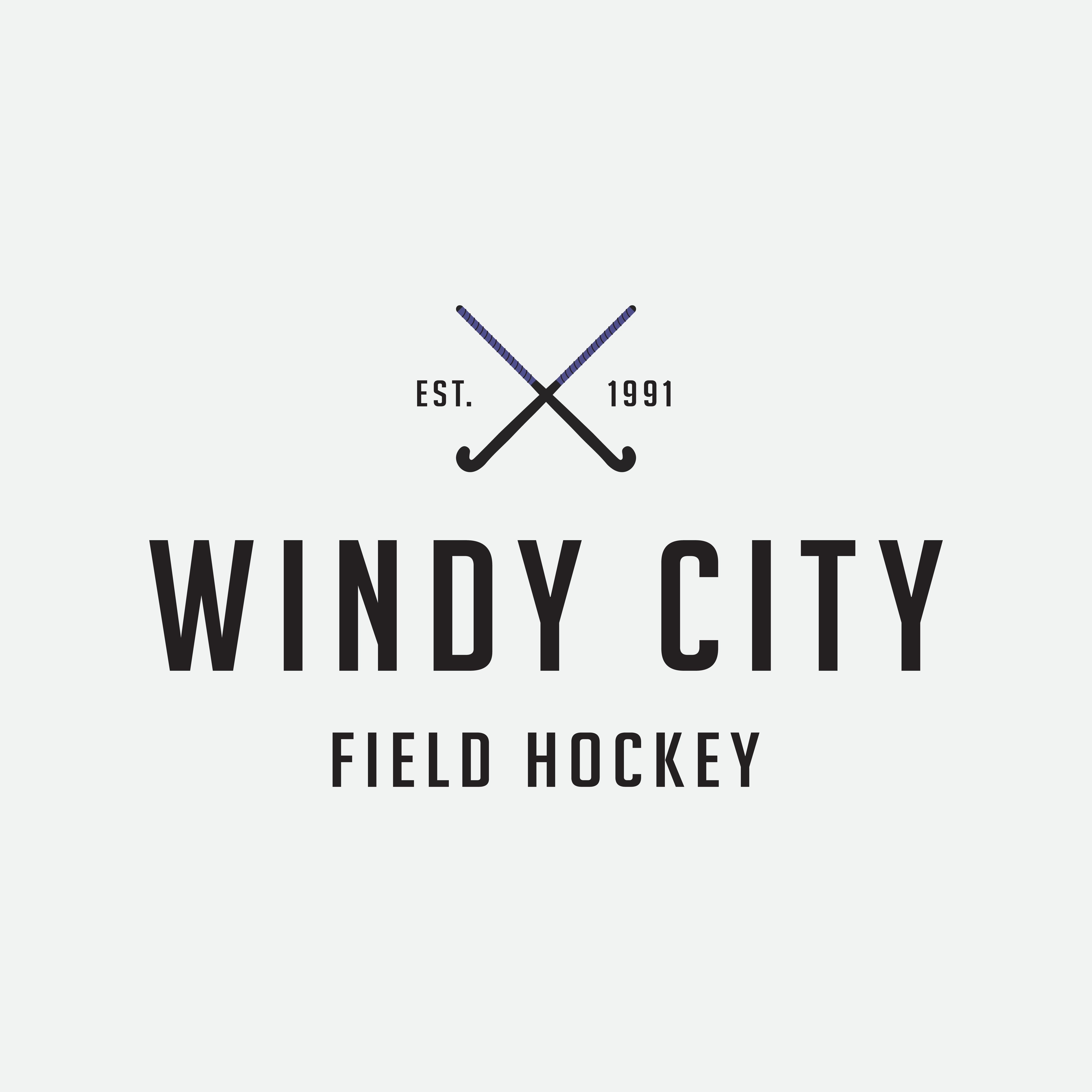 Windy City Field Hockey Logo Designed By Amari Creative Windycity Fieldhockey Amari Am Creative Branding Branding Design Studio Creative Branding Design