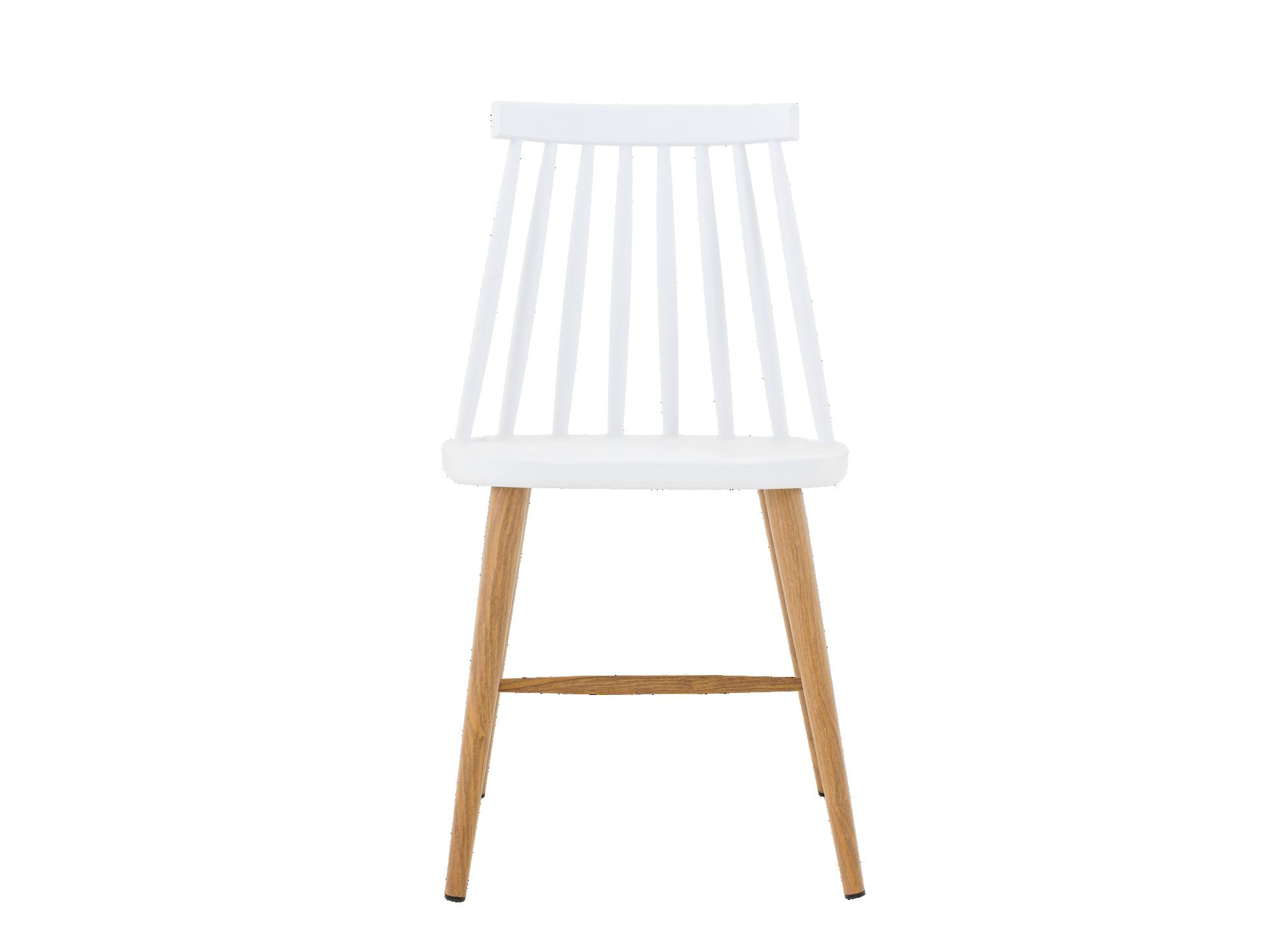 Chaise coque en polypropylene coloris blanche pietement en acier