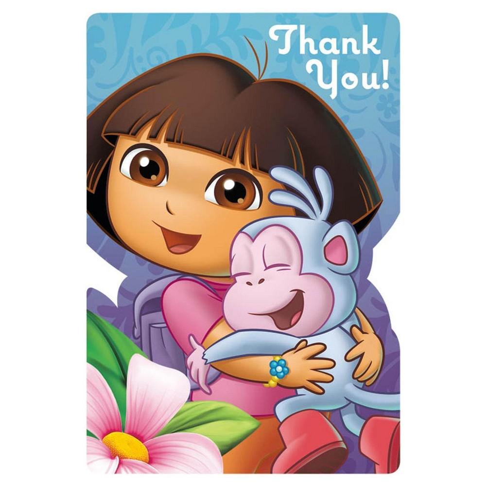 Doras flower adventure thank you card buyseasons dora