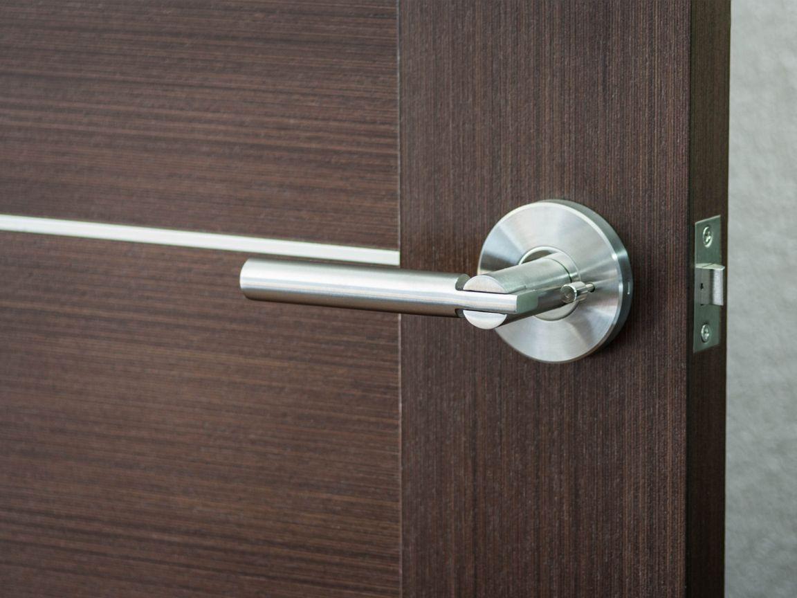 Saturn by nova modern door lever door handle privacy - Contemporary interior door knobs ...