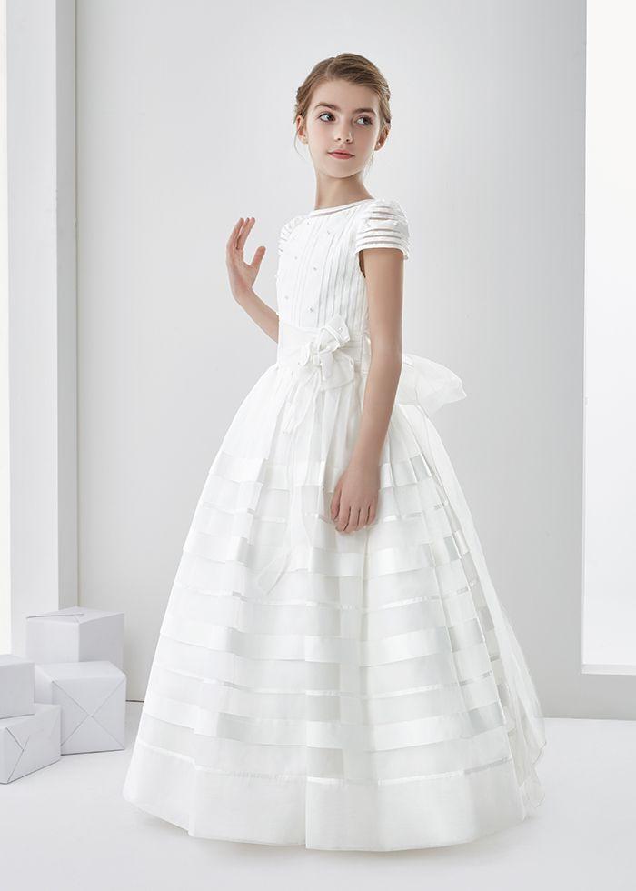 Nectarean Ball Gown Short Sleeve Hand Made Flowers Floor-length ...