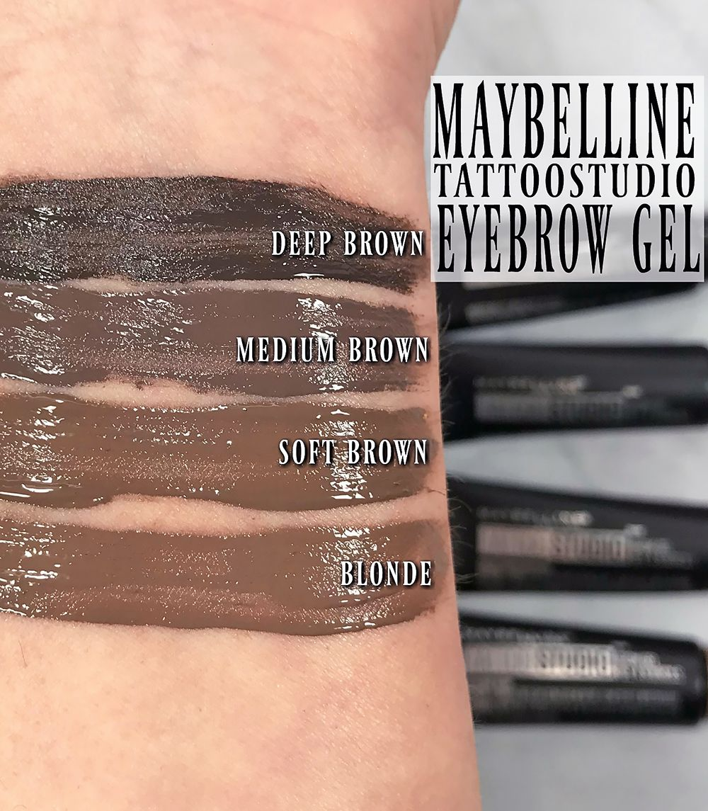 How To Wear Maybelline Tattoostudio Waterproof Eyebrow Gel Waterproof Eyebrow Makeup Eyebrow Makeup Products Eyebrow Gel