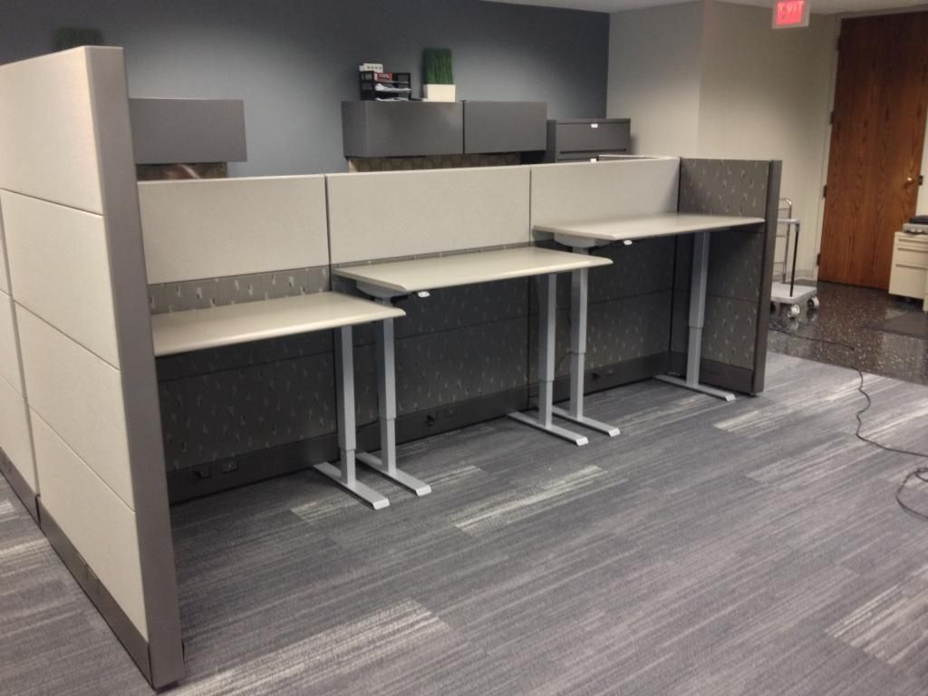 Sit To Stand Standing Workstations Herman Miller With Used Cubicle Panels If You Want